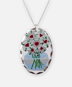 Luthers Roses in Vase Necklace