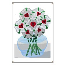 Luthers Roses in Vase Banner