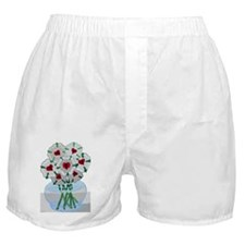 Luthers Roses in Vase Boxer Shorts
