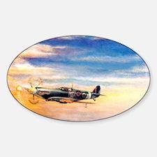 SPITFIRE ART Sticker (Oval)