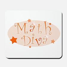 """Math Diva"" [orange] Mousepad"