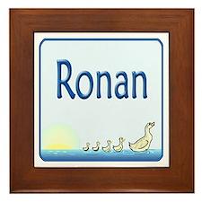 Ducklings Ronan Framed Tile