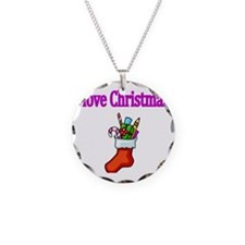 I love Christmas with Stocki Necklace