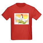 White Leghorn Chickens Kids Dark T-Shirt