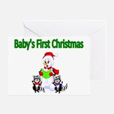 Babys first Christmas Greeting Card