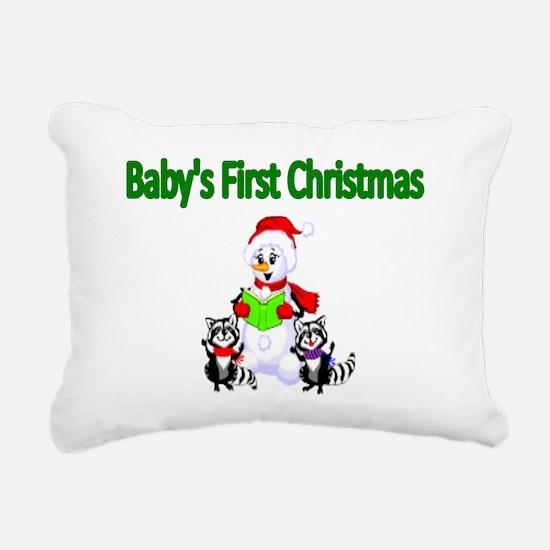 Babys first Christmas Rectangular Canvas Pillow