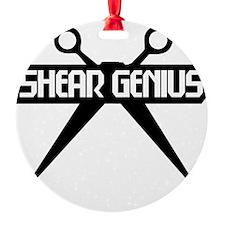 Shear Genius Logo (black) Ornament