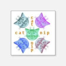 "Kitties hours Square Sticker 3"" x 3"""