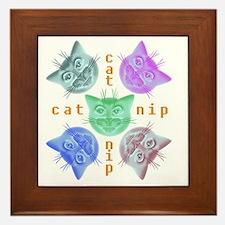 Kitties hours Framed Tile