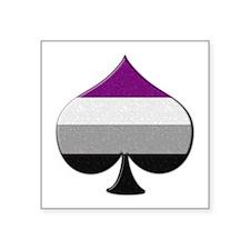 Spade Symbol - Asexual Pride Flag Sticker