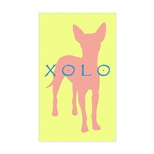xolo dog Rectangle Decal