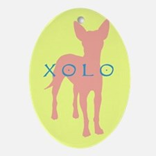 xolo dog Oval Ornament