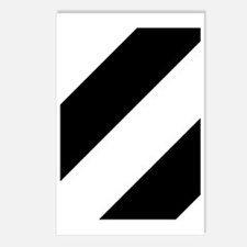 Black and White Diagonal Postcards (Package of 8)
