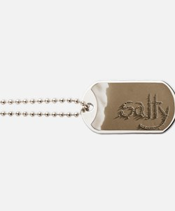salty sepia Dog Tags