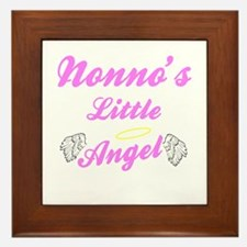 Nonno's Angel (Girl) Framed Ceramic Tile