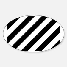 Black and White Diagonal Decal