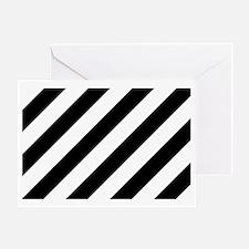 Black and White Diagonal Greeting Card