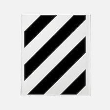 Black and White Diagonal Throw Blanket