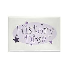 """History Diva"" [purple] Rectangle Magnet"