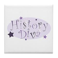 """""""History Diva"""" [purple] Tile Coaster"""