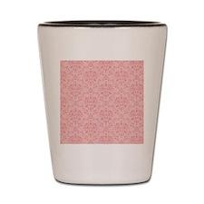 Pink Damask Shot Glass