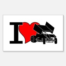 iHEARTsprints Rectangle Decal