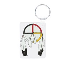 Feathered Medicine Wheel Keychains
