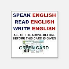 "SPEAK ENGLISH READ ENGLISH  Square Sticker 3"" x 3"""