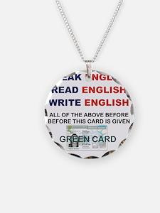 SPEAK ENGLISH READ ENGLISH W Necklace
