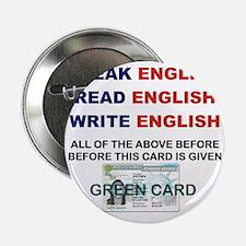 """SPEAK ENGLISH READ ENGLISH WRITE ENGL 2.25"""" Button"""