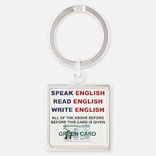SPEAK ENGLISH READ ENGLISH WRITE E Square Keychain