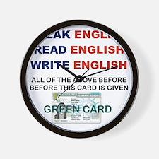 SPEAK ENGLISH READ ENGLISH WRITE ENGLIS Wall Clock