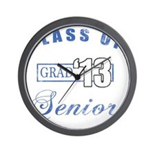 Class Of 2013 (Distressed, Blue) Wall Clock