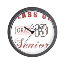 Class Of 2013 (Distressed, Red) Wall Clock