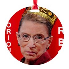 Notorious RBG Small Square Ornament