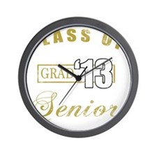 Class Of 2013 (Distressed, Gold) Wall Clock