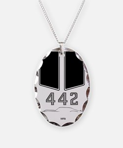 Olds 442 silhouette, logo & st Necklace