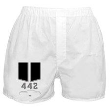 Olds 442 silhouette, logo & stripes Boxer Shorts