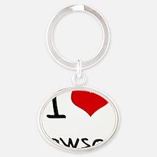 I Love Lawson Oval Keychain