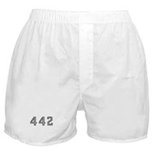 Olds 442 silhouette,logo/stripes for  Boxer Shorts