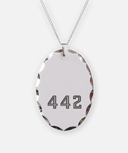 Olds 442 silhouette,logo/strip Necklace