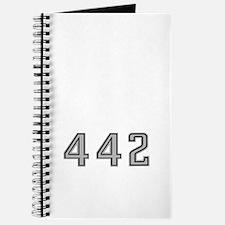 Olds 442 silhouette,logo/stripes for dark Journal