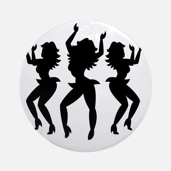 Dancing Girls / Bailarinas Round Ornament