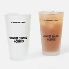 Clumber Spaniel Mommies Designs Drinking Glass