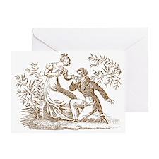 Regency Couple Greeting Card