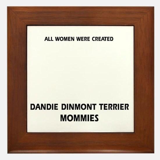 Dandie Dinmont Terrier Mommies Designs Framed Tile
