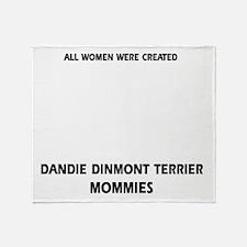 Dandie Dinmont Terrier Mommies Desig Throw Blanket