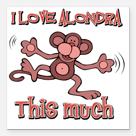 "ALONDRA Square Car Magnet 3"" x 3"""