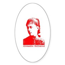 Alexandra Kollontai Oval Decal