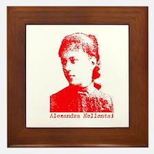Alexandra Kollontai Framed Tile